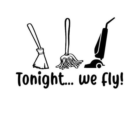 Tonight we fly vinyl decal hocus pocus halloween decor wall art october witches broomstick Halloween Vinyl, Halloween Stickers, Fall Halloween, Halloween Crafts, Halloween Nails, Vinyl Crafts, Vinyl Projects, Sticky Vinyl, Cricut Craft Room