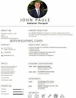 Resume Example With Headshot Photo Cover Letter 1 Page Word Resume Design Diy Cv Example Teacher Resume Examples Resume Examples Resume Skills