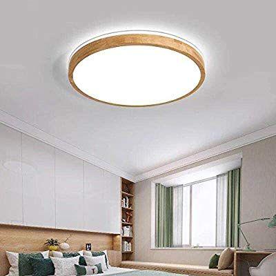 MyLjp Deckenlampen Holz Schlafzimmer Lampe Runde Eiche