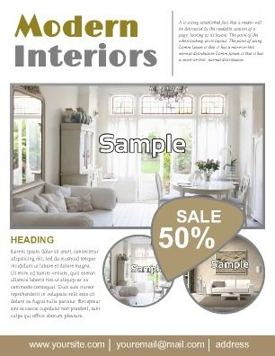 This flyer is useful for Interior Design and Architectural info - home for sale template