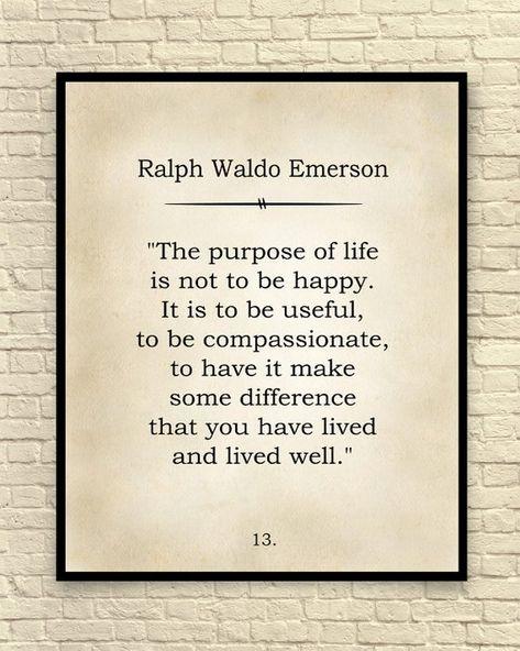 Ralph Waldo Emerson Print, Ralph Waldo Emerson Quote, Custom Art Print, Book Page Art Print, Classic