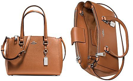 COACH STANTON CARRYALL 26 IN CROSSGRAIN LEATHER  942d0c071480e