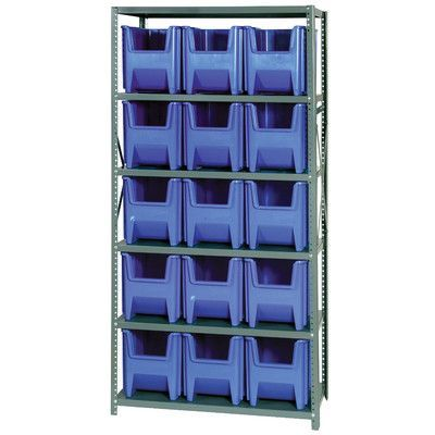 Quantum Giant Stack Container Shelf Storage Systems With Bins Dimensions 12 1 2 H X 16 1 2 W X 17 1 Wall Storage Unit Stacking Bins Storage Center