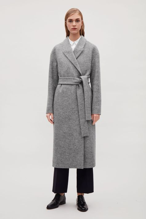 new concept 592a5 f955c COS image 21 of Belted wool coat in Grey   Wintermäntel ...