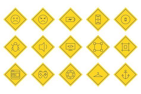 Set Of Universal Icons (443873)   Icons   Design Bundles