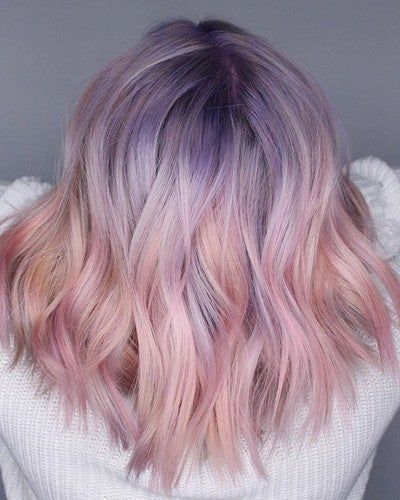 15 Best Ash Blonde Hair Colors of 2019 - Ombre, Highlights & Balayage - Style My Hairs Hair Dye Colors, Cool Hair Color, Lavender Hair Colors, Pastel Hair Colors, Short Lavender Hair, Lavender Hair Tips, Unique Hair Color, Cool Tone Hair Colors, Silver Lavender Hair