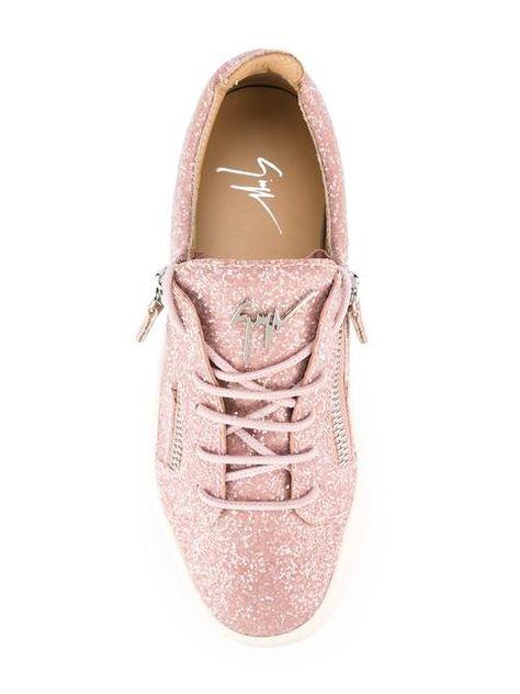 d4a67e26eba80 Shop Giuseppe Zanotti Design Cheryl Glitter low-top sneakers ...