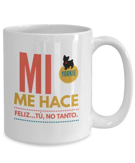 Excited to share the latest addition to my #etsy shop: Regalo para dueños de Yorkies | taza de cafe para enamorada, san valentin, cumpleaños y recien casados | afirmaciones positivas de amor #regaloparahermana #regaloparanovia