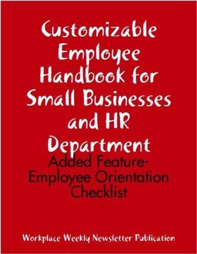 Get your customized employeesu0027 handbook for HR dept \ small - handbook template word