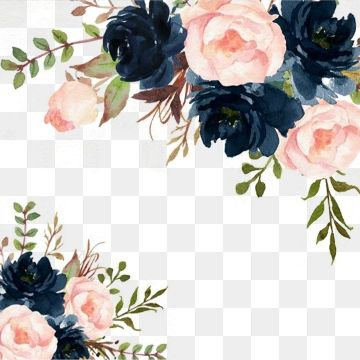 Watercolor Flowers Clipart De Flores
