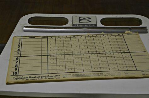 Willard Asylum Hadley Hall Hadley - bowling score sheet