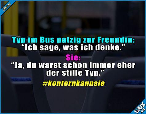 Der Punkt geht an sie. #konter #gekontert #konternkannsie #Sprüche #Spruch #Humor