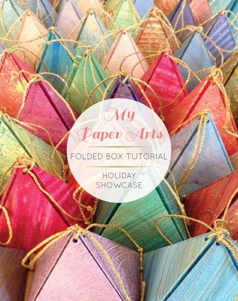 my paper arts - folded triangle box printable via Going Home to Roost