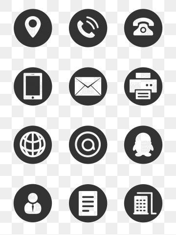 Icono Icono De Tarjeta De Visita Icono De Telefono Icono De Qq Materiales De Imagen Png Y Psd Gratis Icono Telefono Iconos Png Iconos Web