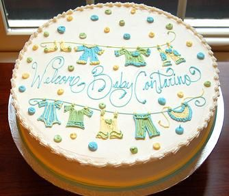 Very Cute Baby Shower Cake. Simple Enough, I Think? | Party Ideas |  Pinterest | Shower Cakes, Cake And Babies