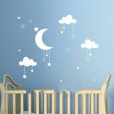 Wall Sticker Clouds Stars Moon Clouds Kids Room Decor Children Ornament Art 3D #fashion #home #garden #homedcor #decalsstickersvinylart (ebay link)