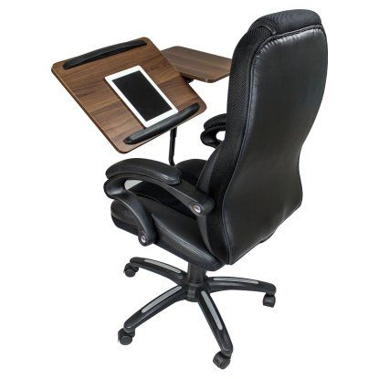 Computer Workstation Office Chair With Built In Desk Tray At Hayneedle Office Chair Desk Chair Cool Office Desk