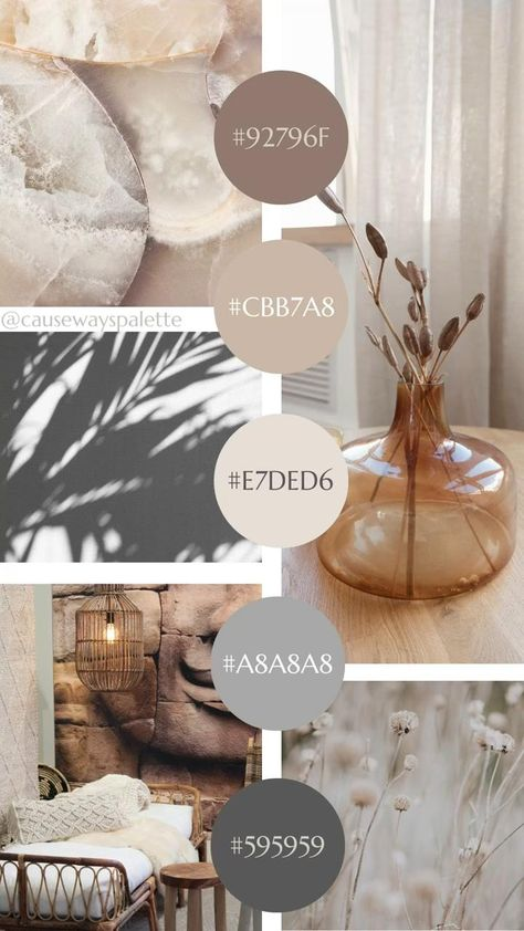 Organic Neutrals Mood Board | Color Inspiration for Health and Wellness Brands + Small Businesses
