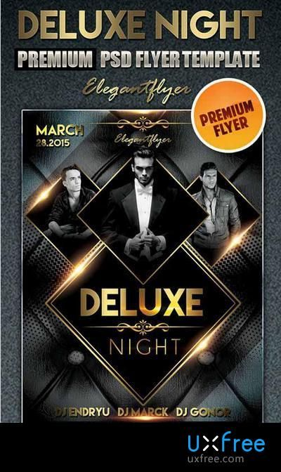 Deluxe Night Premium Club Flyer Psd Template Flyer Template Club Flyers Flyer