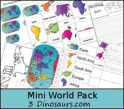 Mini World Map.Free Printable Mini World Pack Homeschool Giveaways Children