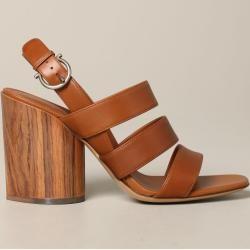 Salvatore Ferragamo Damen Leder Sandalen mit Absatz
