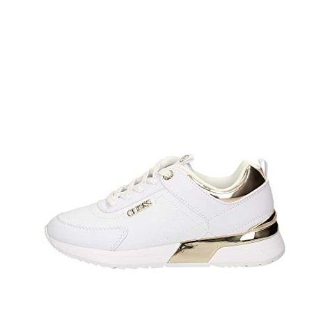 Guess CARTERR2 White Baskets Mode BlancOr pour Les Femmes