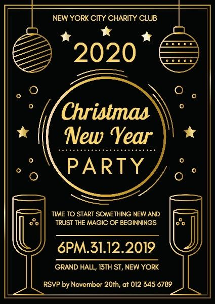 How To Create Christmas New Year Party Invitation Click For More Fotor Design Maker Party Invite Template New Years Eve Invitations New Years Party