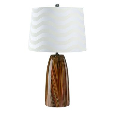 Table Lamp Perini With Cotton Shade 2 Lamp Multicolor Glass Or Shade Cotton Glass Lamp Cotton Shade Table Lamp