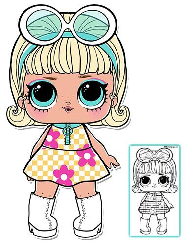 Go Go Gurl Lol Doll Coloring Page Lol Dolls Doll Party Coloring Pages