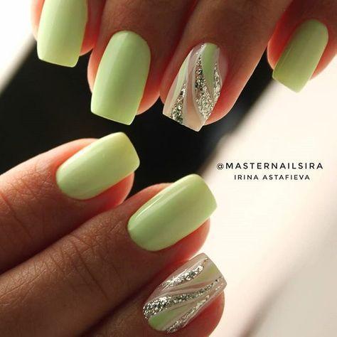 Toca La Imagen Y Aprende A Pintar Las Uñas De Una Manera Muy Bonita Y Fácil Paso A Paso Curso Gratis Green Nails Latest Nail Art Fashion Nails
