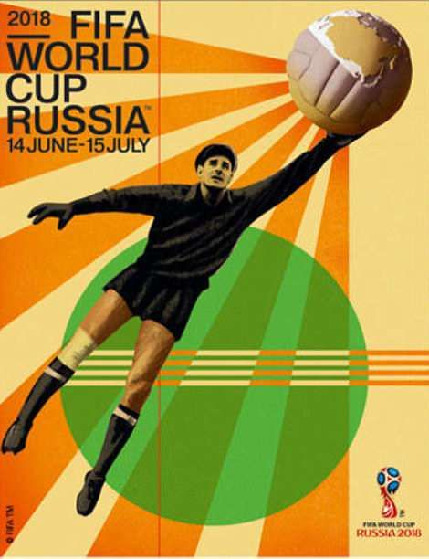 Russia 2018 S World Cup Poster Features The Great Goalkeeper Lev Yashin And Is Inspired By 1920s Russian Art Worldc World Cup Russia World Cup First World Cup