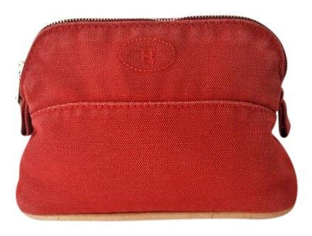 8237c23489ec Hermès Red Bolide Canvas Mini Pouch Case Travel Cosmetic Bag. Free shipping  and guaranteed authenticity on Herms Red Bolide Canvas Mini Pouch Case  Travel ...