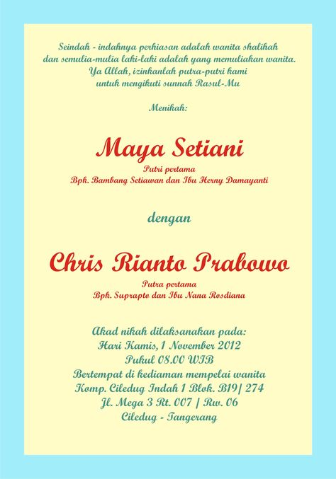8 best My Wedding images on Pinterest - best of invitation text adalah