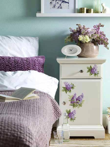 Iinteriores en lila | Camera da letto glicine, Camera da ...