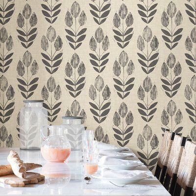 Folk Tulip Peel And Stick 18 X 20 52 Wallpaper Roll Nuwallpaper Peel N Stick Wallpaper Peel And Stick Wallpaper