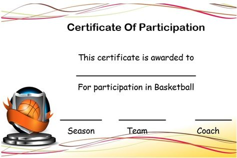 basketball championship certificate template Basketball - new printable sport certificates