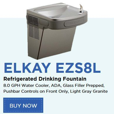 Elkay EZS8L Refrigerated Drinking Fountain, 8 0 GPH Water