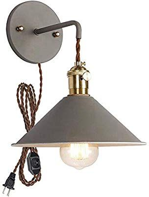 Plug In Dimmable Wall Sconce Lamps Lighting Fixture Within Line Cord Dimmer Switch Grey Macaron Wall Lamp E26 Edison Copper Wall Lamp Copper Lamps Sconce Lamp