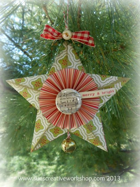 Sue S Creative Workshop 3d Star Ornament Using A Tim Holtz Die