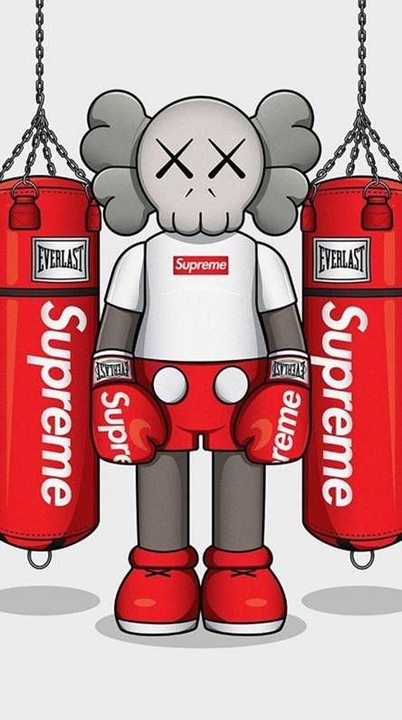 Pin By Itsyeboyhamido On Branded Hypebeast Iphone Wallpaper Supreme Iphone Wallpaper Kaws Iphone Wallpaper Kaws supreme wallpaper iphone