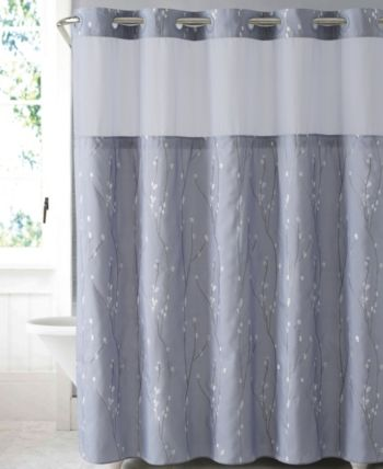 Hookless Cherry Bloom 3 In 1 Shower Curtain Reviews Shower Curtains Bed Bath Macy S In 2020 Purple Shower Curtain Hookless Shower Curtain Curtains