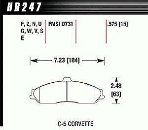 Hawk Performance HB104S.485 Disc Brake Pad