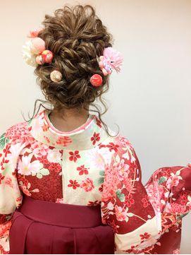 卒業式 袴 成人式 振袖 ルーズ ヘアアレンジ 袴 ヘアアレンジ 袴