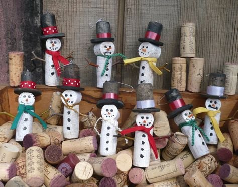 ON SALE Wine Cork Snow Men Christmas Tree by ShadeTreeClassics