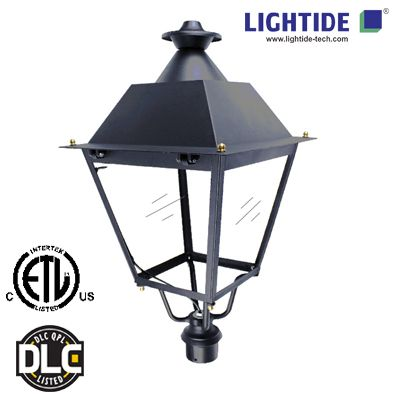 Dlc Premium Led Post Top Light Fixture Is Designed With Lm80 Certified Smd Led Chip It Offers Excellent Heat Sink Dissipa Light Fixtures Led Street Lights Led