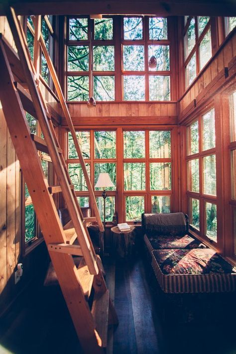 Life in a treehouse. I find double-height houses very appealing.