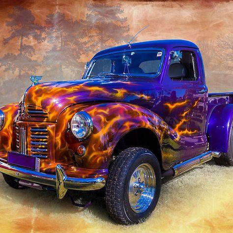 Custom VANS natural BABES & other bad ass transportation. Hot Rod Trucks, New Trucks, Cool Trucks, Vintage Pickup Trucks, Classic Pickup Trucks, Pinup, Auto Retro, Sweet Cars, Custom Cars
