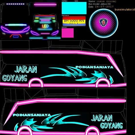 Livery Bus Simulator Indonesia At Duckduckgo In 2020 Neon Signs