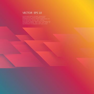 Vector Abstract Geometric Shape From Red Red Tech Background