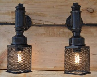 Steampunk Wall Light Unique Industrial Man Cave Wall Light In